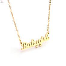 Neue Mode benutzerdefinierte Edelstahl Namensschild Brief Monogramm Halskette