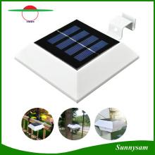 Lâmpada solar quadrada de 4 LED PIR Sensor de movimento Goteira de telhado Luz solar Light Light Lâmpada Solar ao ar livre