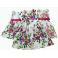 Vestido de algodão da menina / vestido da menina de flor / roupa das crianças / desgaste das crianças