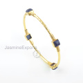Beautiful 18k Gold Lapis Bangle, 925 Sterling Silver Bangles Jewelry For Wholesale Supplier