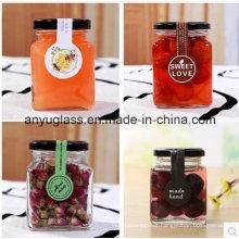 Square Preserve Glass Storage Jar for Honey, Food and Sauce