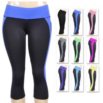Pantalones apretados al por mayor atractivos de la yoga de Capri del Bodybuilding de encargo para las mujeres
