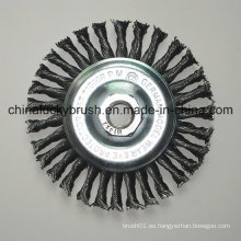 4inch alambre de acero anudado rueda pincel con M14X2 (YY-641)