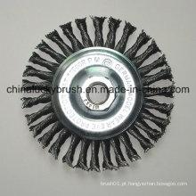 4inch fio de aço Knotted roda escova com M14X2 (YY-641)