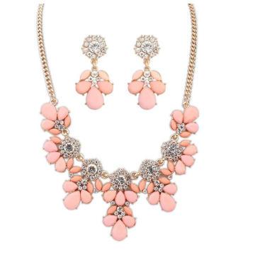 Indain Bridal jóias conjuntos 2016 Flower Necklace Africano Beads Jewelry Set