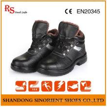 Chaussures de sécurité d'hiver résistantes aux produits chimiques avec doublure en fourrure artificielle RS820