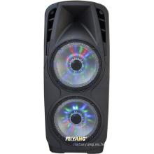 Paquete de parlantes dobles de 10 pulgadas Bluetooth Party Pack con trípode, soporte para parlantes, luz de fiesta, micrófono y cables F73D