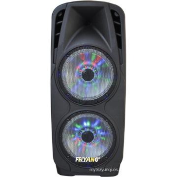 Altavoz de escenario profesional bajo 2X10inches con LED 80W de alto poder F73D