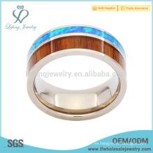 Camoflage de alta calidad con el anillo de madera del titanio del embutido del grano