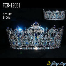 Full Round Beauty Queen Crowns en venta