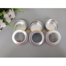 20z frasco de alumínio cosmético com tampa do parafuso da janela (PPC-ATC-60)