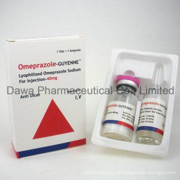 Allgemeinmedizin Omeprazole 20mg Injektion für Gastrohelcosis und Magensäure