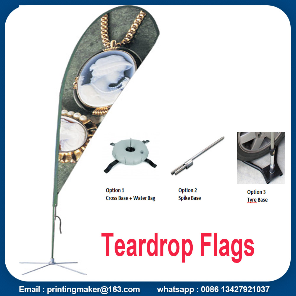 business teardrop flag