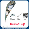 Custom Double Sided Tear drop-flaggor med kit