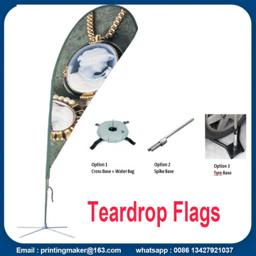 Benutzerdefinierte Double Sided Tear Drop Flags mit Kits