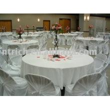 100 % polyester nappe, housse de table hôtel, superposition de table