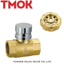 Válvula de bola manejable con control magnético y latón