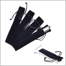 Soft Black Pen Velvet Bag with Line, Velvet Pen Gift Bag
