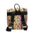 Foldable drawstring geometric outdoor Laptop backpacks