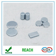 zinc plated disc block customized magnet