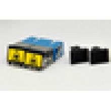 Adaptador de fibra óptica SC Adaptador de obturador duplex flange reduzida