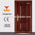 Simple design cheap price flush plain yiwu security doors