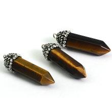 Tiger′s Eye Gemstone Pendant Necklace Jewelry