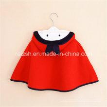 Abrigo de niña Capa de capa con capucha roja coreana