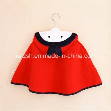 Meninas Casaco Capuz Vermelho Com Capuz Coreano Manto