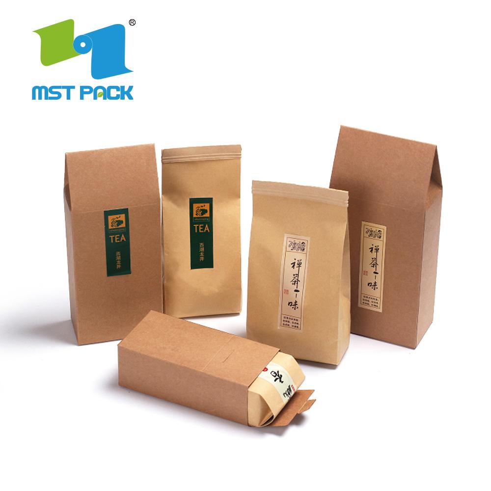 brown craft paper tea bags