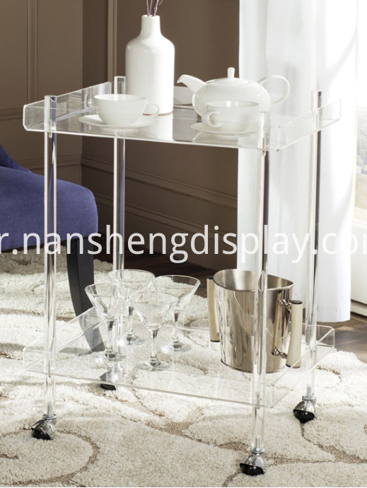 Home Collection Transparent Acrylic Kitchen Organizer Cart