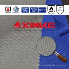 Tela de algodón antiestática 11.2Oz resistente al fuego laminada popular del arco