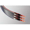 Flat mouth cryogenic power cable