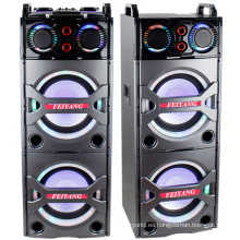 Doble 10 pulgadas Bluetooth altavoz PA Karaoke Entertainment System, micrófono inalámbrico E246