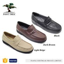 Sapatos de couro genuíno de vaca macios