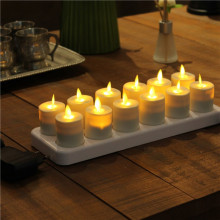 Luminara Moving Flame Rechargeable LED Candle 12 Set
