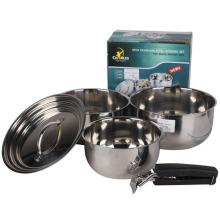 5 pcs de aço inoxidável cooing potes