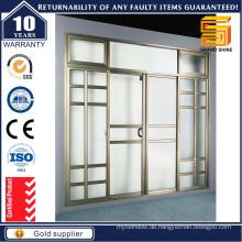 Double Lowe Glass Thermal Break Aluminium Lift und Schiebetür