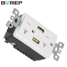 Prise de courant de chargeur USB électrique 20A Dual USB haute vitesse prise de courant rapide 5VDC et 4A port de charge