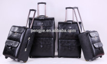 2 wheels pu trolley luggage travel bag for Africa market