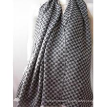 Mantón de tela escocesa de ajedrez de caxemira