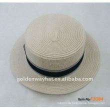 Mode-Papier Hut Top flache Hüte Panama Hüte billig für Werbeartikel