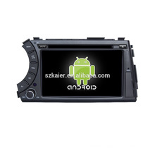 Quad core!car dvd with mirror link/DVR/TPMS/OBD2 for 7inch touch screen quad core 4.4 Android system Ssangyong Actyon