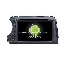 Quad core! Dvd do carro com link espelho / DVR / TPMS / OBD2 para 7 polegadas tela sensível ao toque quad core 4.4 Android sistema Ssangyong Actyon