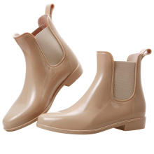 Easy On Bright Skin Color Ankle Shoes Botines Mujer Women Waterproof Non-Slip Garden Rain Boots