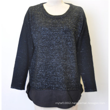 100%Acrylic Lurex Women Pullover Knit Sweater