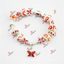 Fashion Nice Glass Bead Charms Chain Bracelet Jewelry (LDF60226)