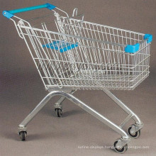 Normal Size European Style Supermarket Shopping Trolley Cart