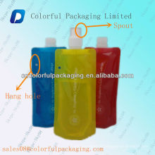 Laminated stand up spout pouch for juice&beverage/Baby food pouch/Drinking water spout bag