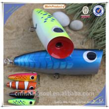 WDL020 12cm 15cm appât artificiel de pêche appâts popper artificielle en bois de pêche dur appât